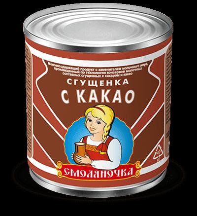 Сгущенка с сахаром какао (МПС)